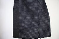 Ann Taylor Polyester Blend Black W/Gold Polka Dots Lined Pencil Skirt Size - 4