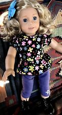 American Girl Doll Truly Me #56 Blond Curly Hair and Blue Eyes + Pajama Set!