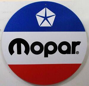 """MOPAR Logo 12"""" Round Metal Sign"""