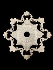 Gips Stuck Rosette Wanddeko Deckenspiegel Ornament Verzierung Gipsrahmen