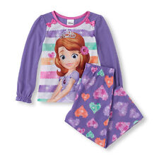 New! Toddler Long Sleeve Princess Sofia Top And Printed Bottoms