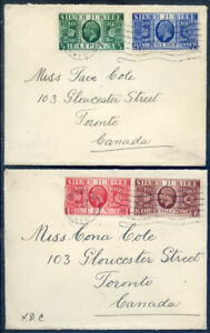 Great Britain 1935 Jubilee set of 2 plain first day covers (2010/02//26#01)