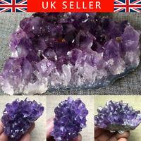 Natural Amethyst Quartz Geode Druzy Crystal Cluster Healing Specimen Gift UK Aut