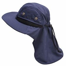 Mens Womens Kids Wide Brim Outdoor Sun Neck Protection Fishing Flap Hat T202
