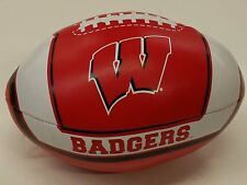 "NCAA 8"" Soft Vinyl Football, Wisconsin Badgers, NEW"