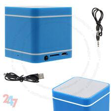 Mini Blue 300mAh Speaker Wireless Bluetooth 3.0 Hands-Free For PC Phone's S247