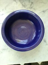"""Vintage  OLD Fiestaware Cobalt Blue 8 1/2"""" Vegetable Bowl - EUC"""