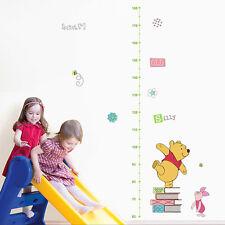 Winnie The Pooh Height Chart Wall Sticker Decal Kids Room Decor Vinyl Mural DIY