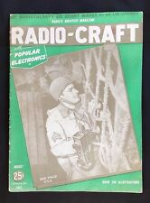 August 1943 Vintage Magazine ~ Radio Craft ~ WWII Signal Corps Radioman Cover
