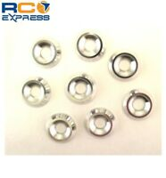 Hot Racing Silver Aluminum 4mm Countersunk Washer (8) CW34908