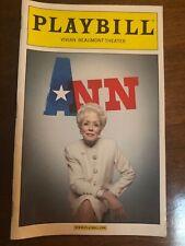 Ann March 2013 Broadway Playbill Opening Night