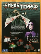 Clock Tower PS1 Playstation 1 1997 Vintage Game Poster Ad Art Survival Horror