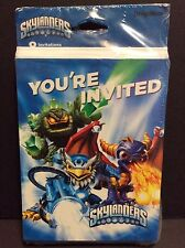 Skylanders Party Pack 8 Birthday Party Invitations & 8 Thank You Postcards New!!