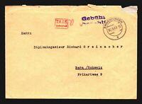Germany 1947 Gebuhi Taxe Percue Cover to Bern - Z14086