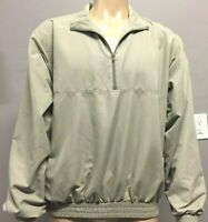 Weatherproof, Men's Tan Windbreaker, Size L, Pullover, 1/2 Zip Front, Mesh Lined