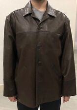 West Coast Brown Leather Men's XXXL coat.  Fully lined.  NWOT