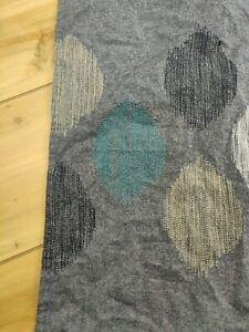 Shower Curtain THRESHOLD Embroidered Mid Century Geometric Design 100% Cotton