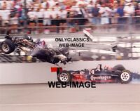 1995 STAN FOX AJ FOYT INDY 500 WILD RACE CRASH 8X10 PHOTO INDIANAPOLIS SPEEDWAY
