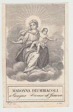 Madonna dei Miracoli a Cicagna Santino Canivet immagine Sacra 800