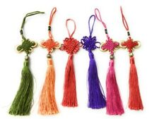 Job Lot 6 nouvel an chinois Lucky Knot Feng Shui Tassel Bag Charm voiture Hanging 中国结