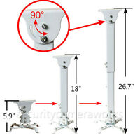 Projector Ceiling Mount Bracket Extendable Tilt Swivel DLP LCD 44lbs White BHM