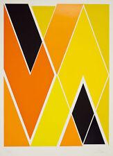 Larry Zox Diagonal Composition – 1973 Print – Linocut Lithograph Signed Art