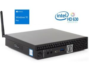 Dell Optiplex 7050 Micro Tiny PC COMPUTER i5 7500T 2.7Ghz 8GB 256GB SSD WIFI W10