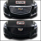 Chrome Delete Blackout Overlay for 2015-19 Cadillac CTS Full Front Bumper Grill  for sale