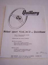 PUBLICITE PIECES AUTOMOBILE , QUILLERY , VOLANT SPORT 504 EN QUIRETHANE .