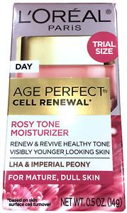 Face Moisturizer L'Oreal Paris 0.5oz Trial Size Skin Care Age Perfect Rosy Tone