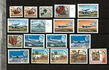 RHODESIA (D28-4) 1966-68 1d TO £1.00 INC AL H/Vs  RANGE OF 18 STAMPS MNH /UMM