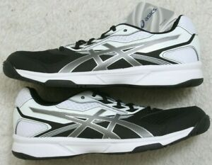 New Asics Upcourt Running Shoes 11 Eleven White Black Gray 43.5 European Woman's
