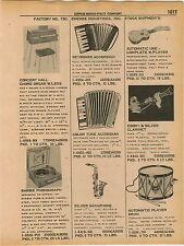 1961 ADVERT Emenee Ind Toy Uke Ukelele Patriotic Drum Barbie Record Player Sax