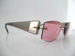 Unisex Silhouette Brown & Gold  Rimless Eye Glasses 7598 40 6052 52 19 140