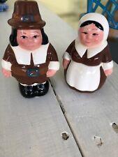 1999 Collectible Mr. & Mrs. Publix Pilgrim Salt & Pepper Shakers Thanksgiving