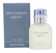 DOLCE & GABBANA LIGHT BLUE EAU DE TOILETTE 40ML SPRAY - MEN'S FOR HIM. NEW