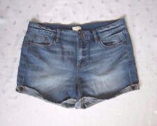 J. CREW Short Boyfriend Jeans Medium Wash Blue Denim Shorts ~ Size 29 / W32