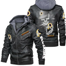 Washington Redskins - Leather Jacket, Best gift-HALLOWEEN-SKULL SO COOL