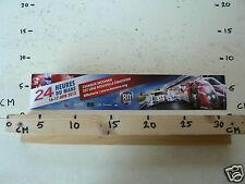 STICKER,DECAL LE MANS 2012 24 HEURES DU MANS 16-17 JUIN 2012 30 CM LONG LARGE