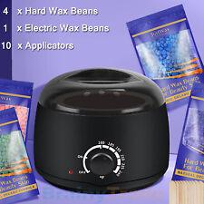 Waxing Hair Removal Warmer Kit Electric Hot Wax + 400g Hard Wax beans & 10 Stick