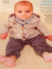 WINTER CABLE JACKET BABY KNITTING PATTERN AGE 3 MONTHS - 2 YEARS VGC