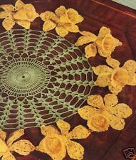 Vintage Crochet PATTERN to make Daffodil Flower Doily Mat Motif Centerpiece