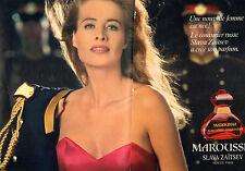 Publicité Advertising 1992 ( Double page )  Parfum MAROUSSIA Slava Zaitsev