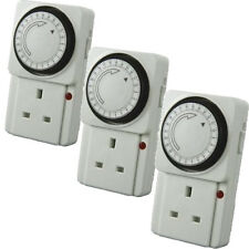 3 x 24 HOUR 24HR MAINS PLUG IN SWITCH SOCKET TIMER UK