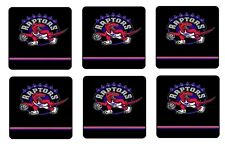 "TORONTO RAPTORS COASTERS 1/4"" BAR & BEER SET OF 6"