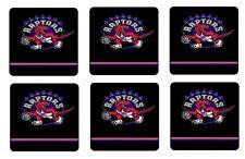 "TORONTO RAPTORS COASTERS 1/4"" BAR & BEER SET OF 6"
