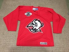 Vintage CCM Buffalo Sabres Practice Jersey Goahead Red Hockey NHL