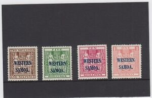SAMOA 1945 ARMS SET OF 4 LIGHTLY M/M. S.G.207/10 CATALOGUED £180.00.