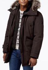 Michael Kors Men's Winter Bib Snorkel Parka Jacket Hooded Eggplant L $375 NWT