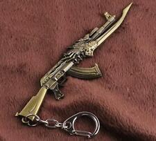 CF Gun Pendant Key ring chain Cross Fire 12cm AK47 Weapon Model Metal Bronze *